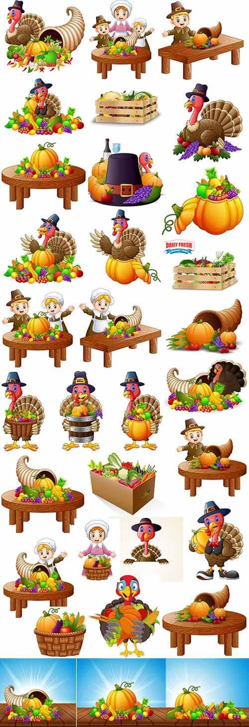 Дары осени - Векторный клипарт / Gifts of autumn - Vector Graphics