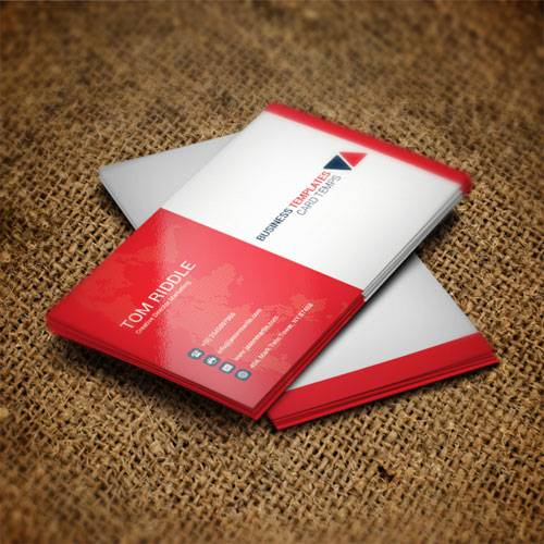 Red & white - business card templates