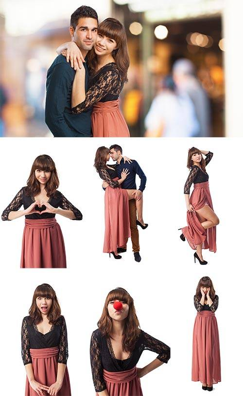 Симпатичная девушка - Растровый клипарт / Cute girl - Raster clipart