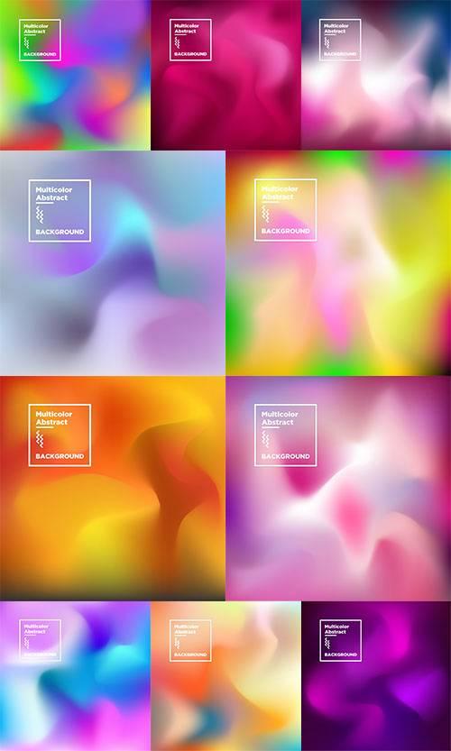 Разноцветные фоны в векторе / Multicolor backgrounds in vector
