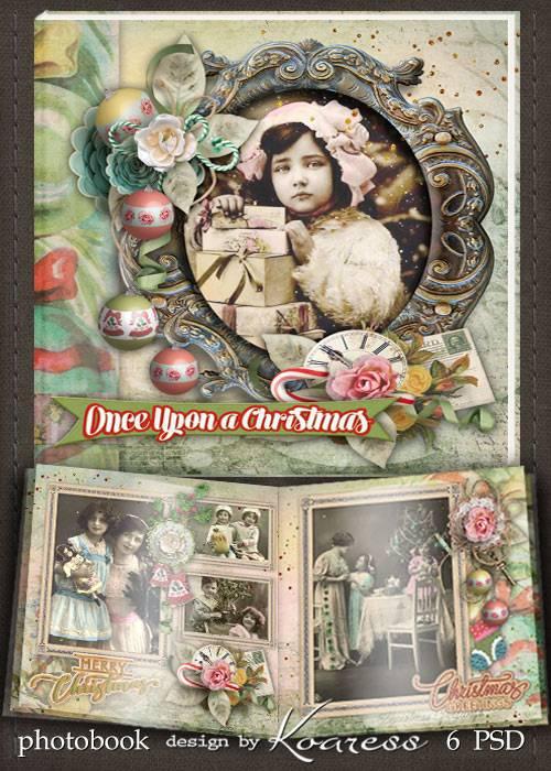 Шаблон фотокниги для фотошопа - Однажды на Рождество