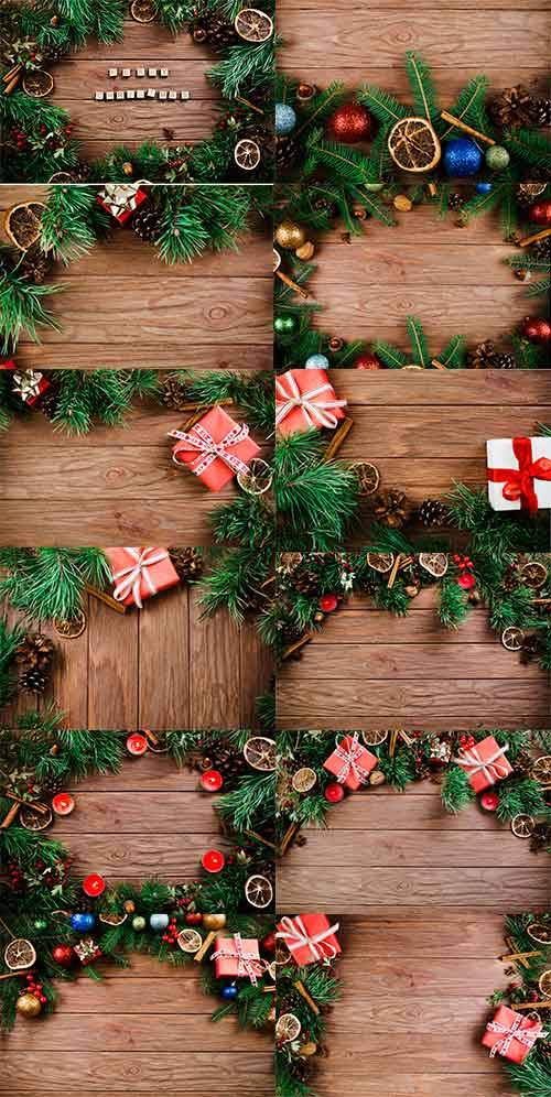 Фоны с еловыми ветками / Backgrounds with spruce branches
