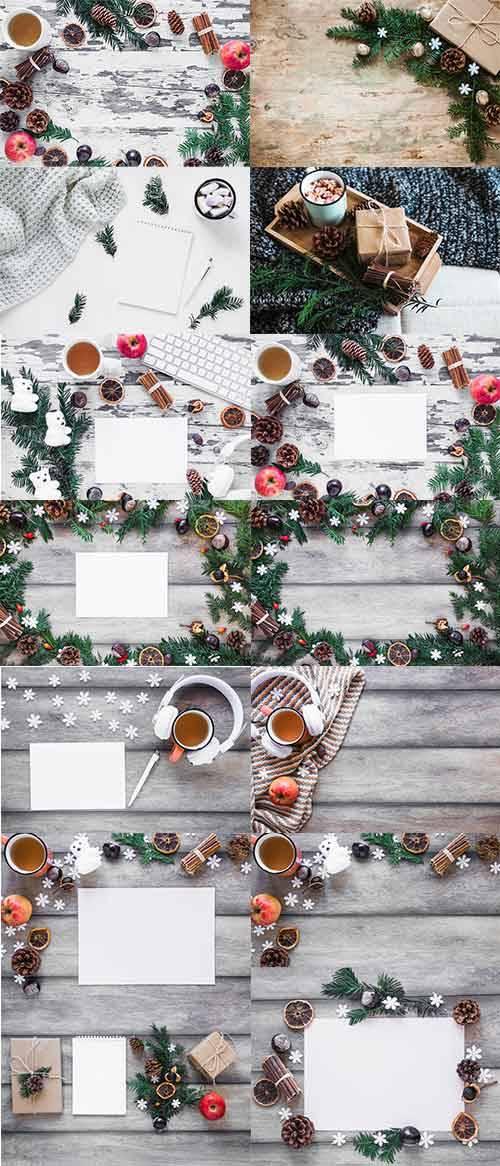 Новогодние фоны - Растровый клипарт / Christmas backgrounds - Raster clipar ...