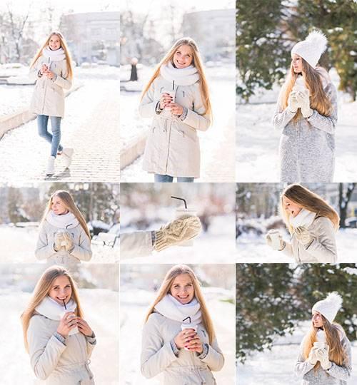 Красивая девушка - Клипарт / Beautiful girl - Clipart