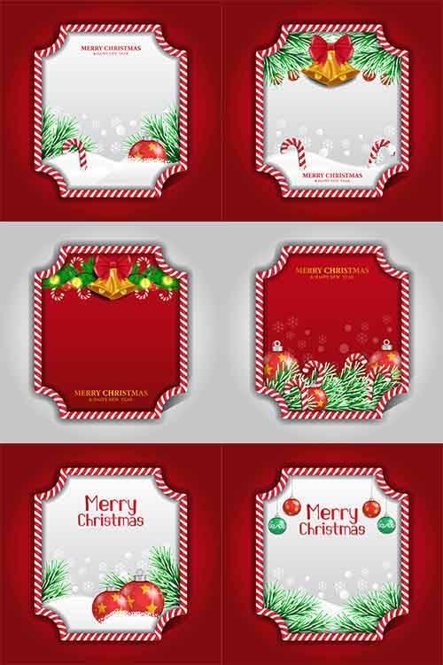 Рождественские открытки в векторе / Christmas cards in vector