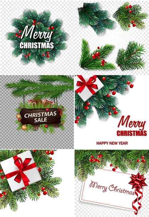 Новогодние фоны - 9 - Векторный клипарт / Christmas backgrounds -9 - Vector ...