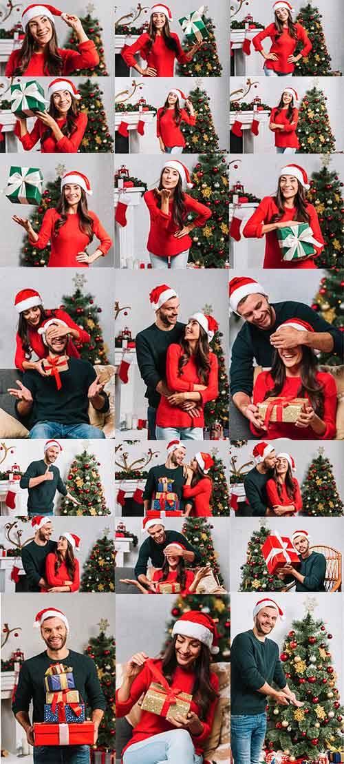 Счастливые парень и девушка - Клипарт / Happy boyfriend and girlfriend - Cl ...