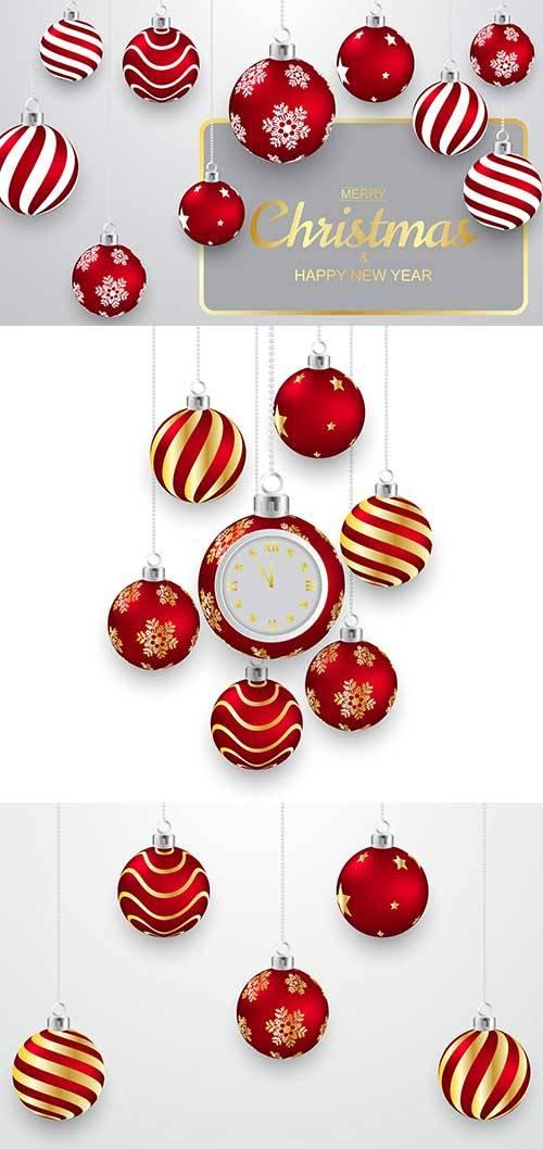 Новогодние шары -3 - Векторный клипарт / Christmas balls -3 - Vector Graphi ...