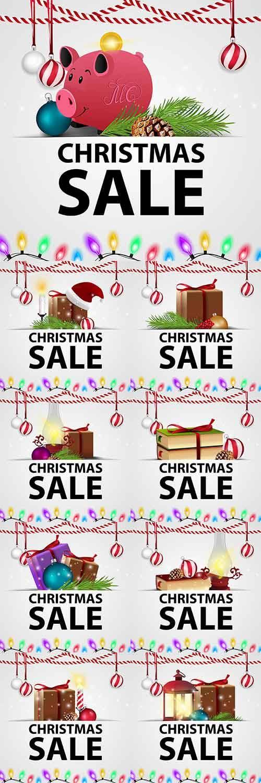 Новогодние открытки - 7 - Векторный клипарт / Christmas cards - 7 - Vector  ...