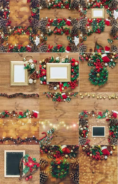 Новогодние фоны - 5 - Растровый клипарт / Christmas backgrounds - 5 - Raste ...