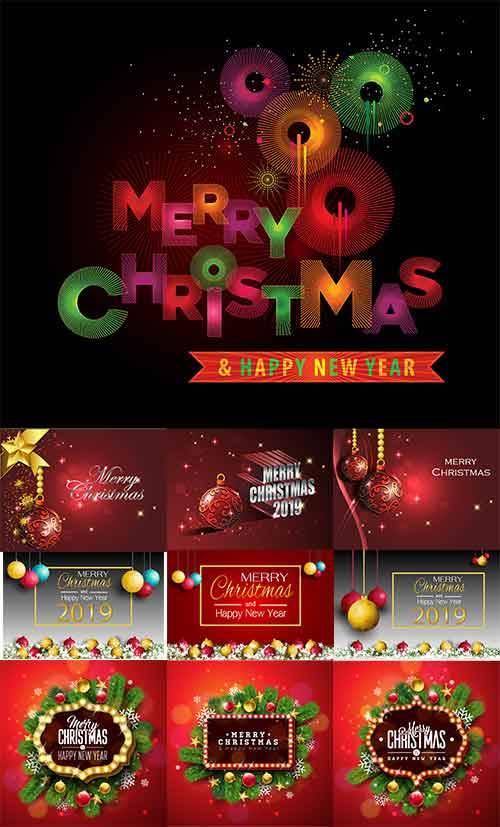 Новогодние фоны - 18 - Векторный клипарт / Christmas backgrounds -18 - Vect ...