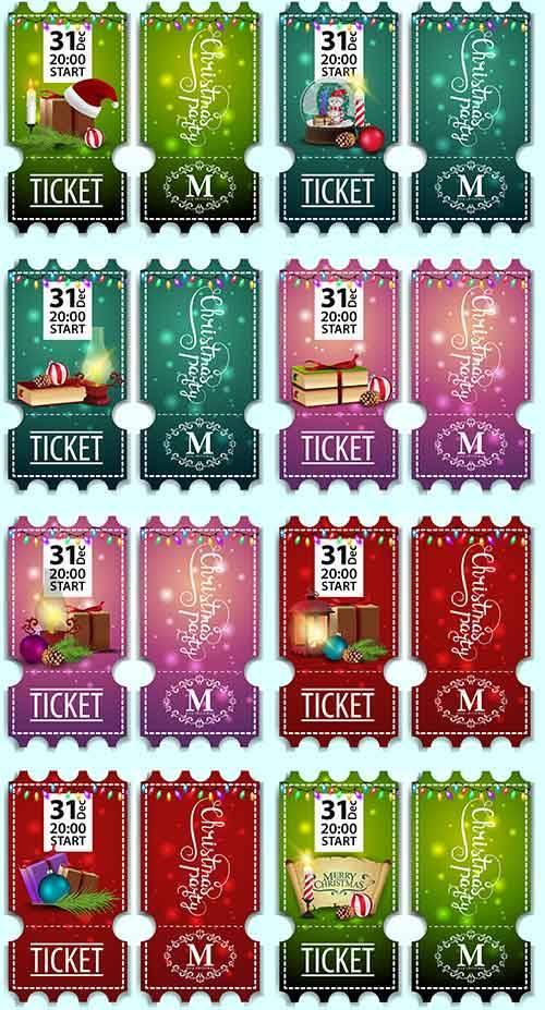 Новогодние баннеры в векторе - 13 / Christmas banners in vector - 13