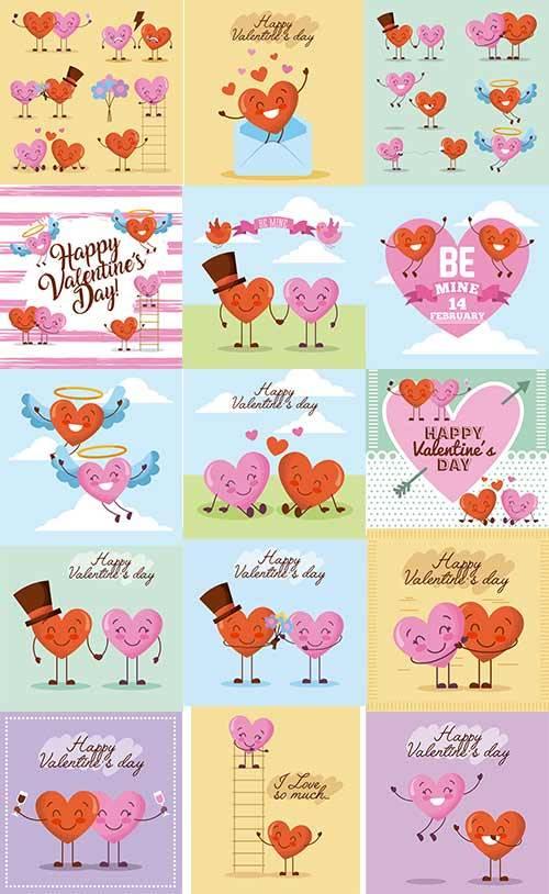 Валентинки - Векторный клипарт / Valentines - Vector Graphics