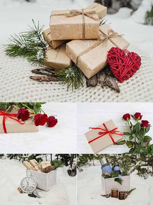 Романтические фоны - 4 - Растровый клипарт / Romantic backgrounds - 4 - Ras ...