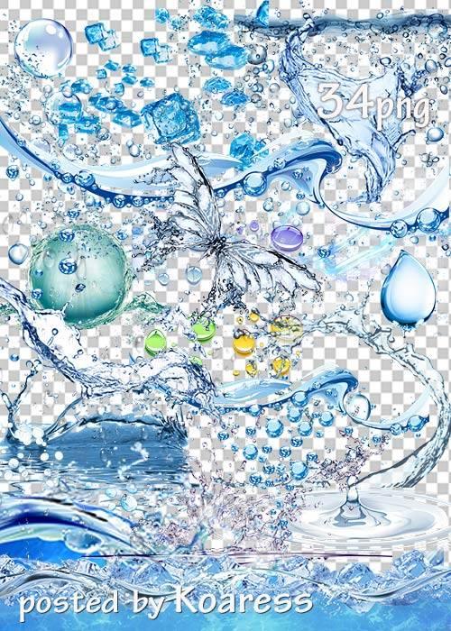 Подборка клипарта png - Вода, брызги, капли, лед