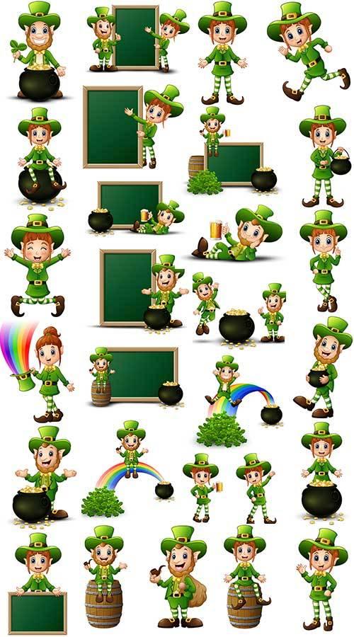 День пива - Векторный клипарт / St.Patrick 's Day - Vector clipart