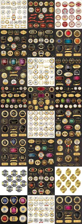 Коллекция этикеток - Векторный клипарт / Label collection - Vector Graphics