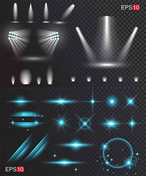Свет - Векторный клипарт / Light - Vector Graphics