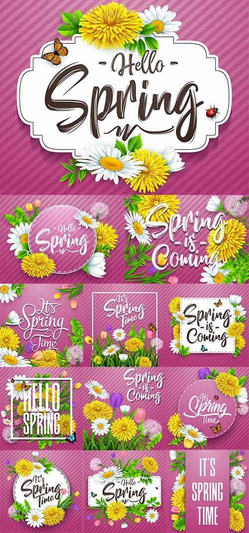 Здравствуй, весна - 5 - Векторный клипарт / Hello Spring - 5 - Vector Graph ...