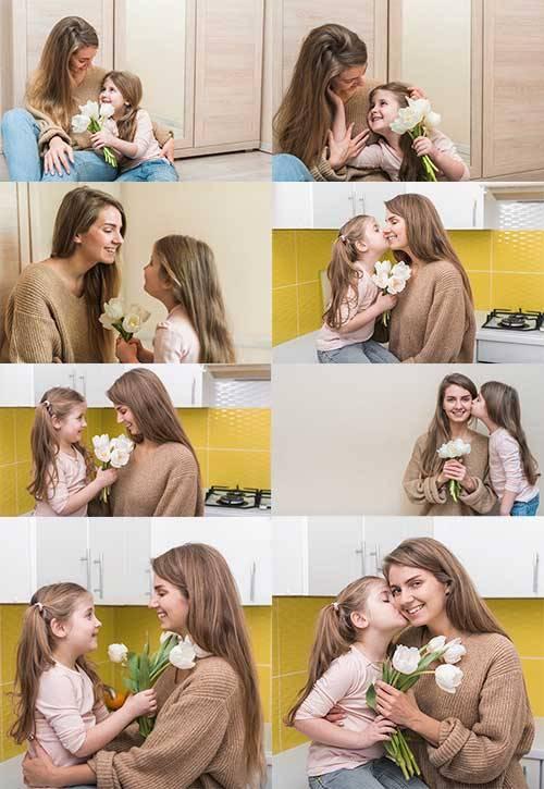 Мать и дочь - Растровый клипарт / Mother and Daughter - Raster clipart