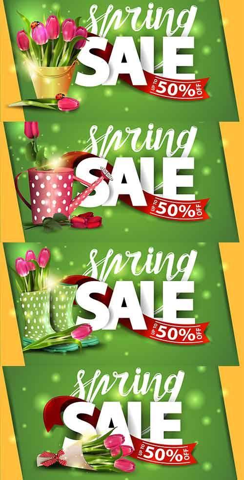 Здравствуй, весна - 6 - Векторный клипарт / Hello Spring - 6 - Vector Graph ...
