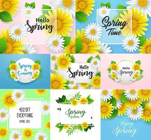 Здравствуй, весна - 10 - Векторный клипарт / Hello Spring - 10 - Vector Gra ...