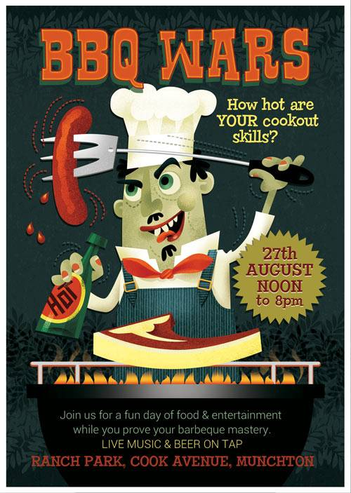 BBQ Wars flyer template
