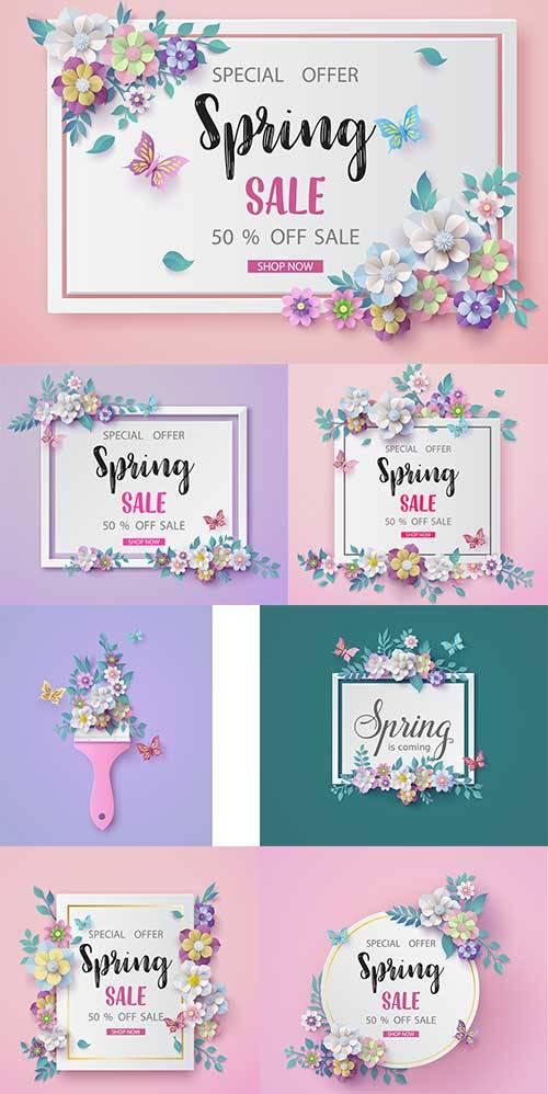 Здравствуй, весна - 13 - Векторный клипарт / Hello Spring - 13 - Vector Gra ...