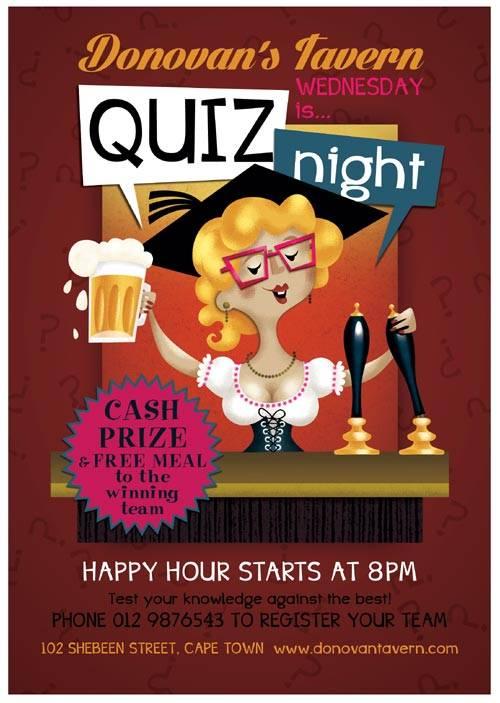 Quiz Night psd flyer template