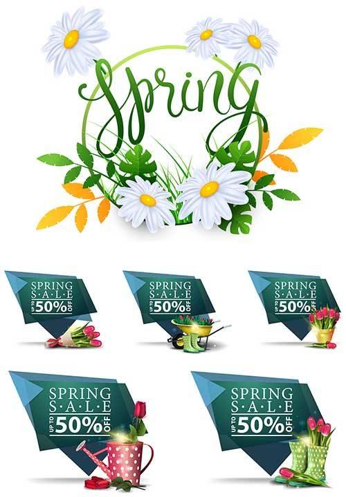 Здравствуй, весна - 15 - Векторный клипарт / Hello Spring - 15 - Vector Gra ...