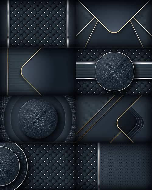 Абстрактный тёмный фон - Векторный клипарт / Abstract dark background - Vec ...