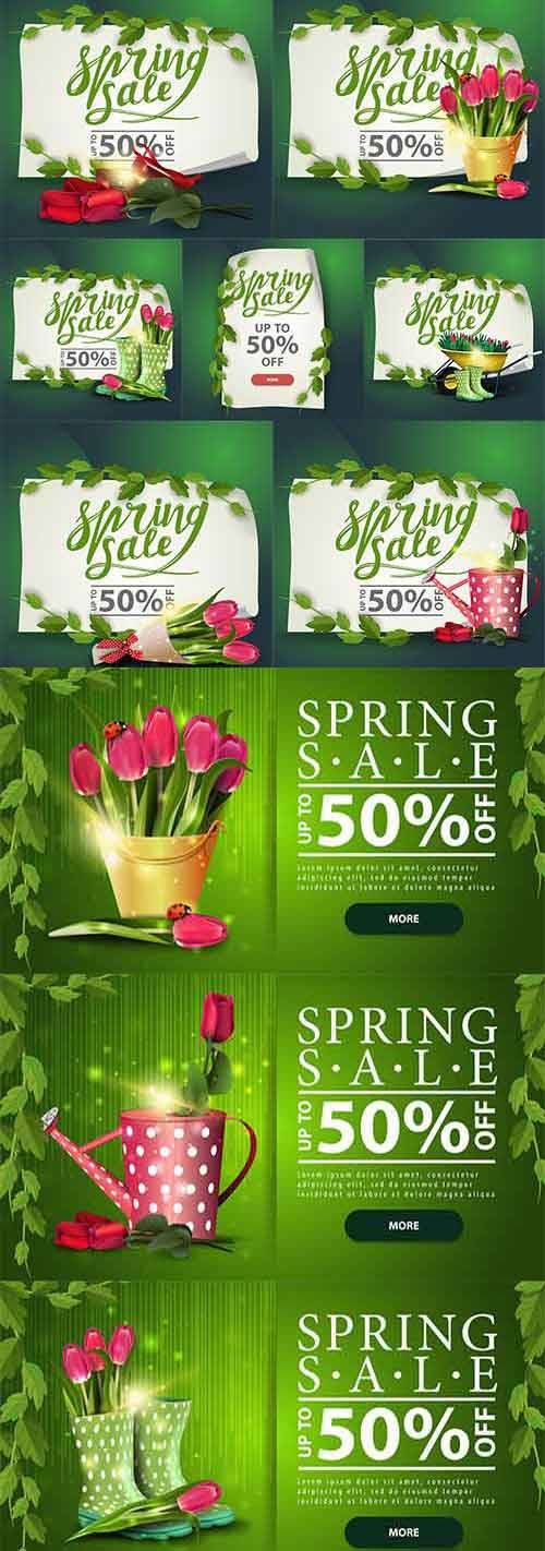 Здравствуй, весна - 17 - Векторный клипарт / Hello Spring - 17 - Vector Gra ...