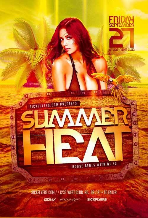Summer Heat psd flyer template