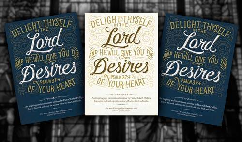 Psalm 37:4 psd flyer template