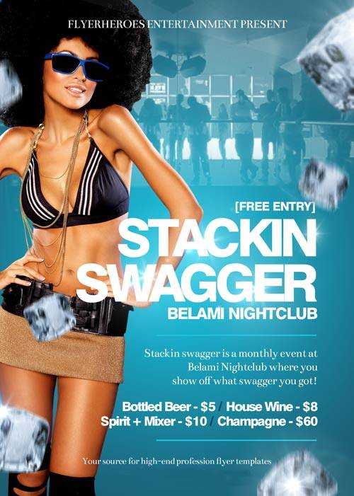 Stackin Swagger psd flyer template