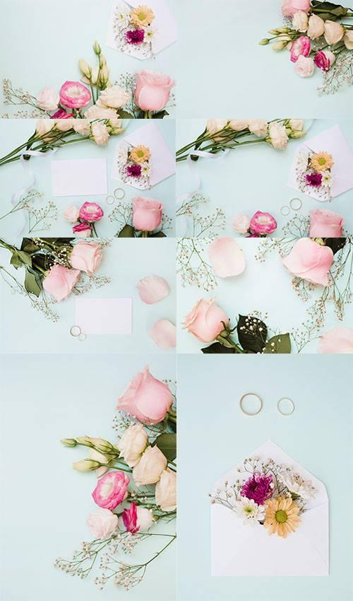 Фоны с розами - Растровый клипарт / Backgrounds with roses - Raster clipart