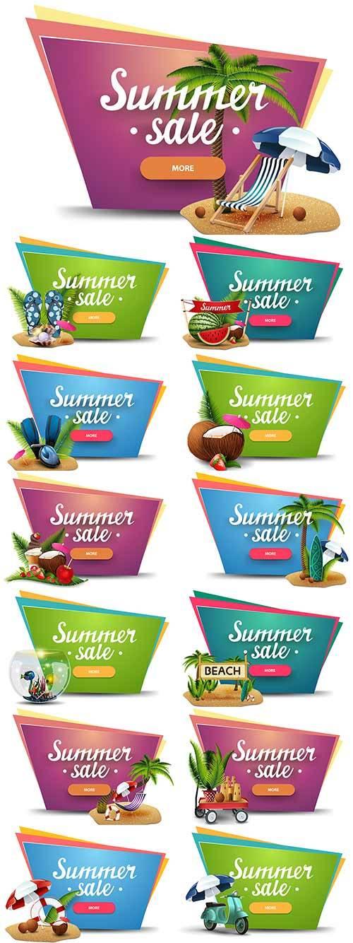 Здравствуй лето - 12 - Векторный клипарт / Hello summer - 12 - Vector Graph ...