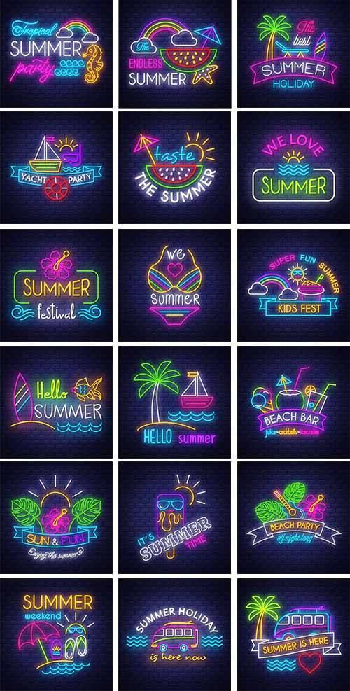 Здравствуй лето - 14 - Векторный клипарт / Hello summer - 14 - Vector Graph ...