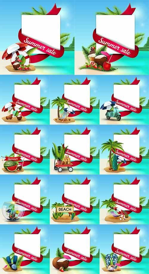 Здравствуй лето - 16 - Векторный клипарт / Hello summer - 16 - Vector Graph ...