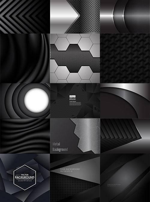 Чёрные фоны в векторе / Black backgrounds in vector
