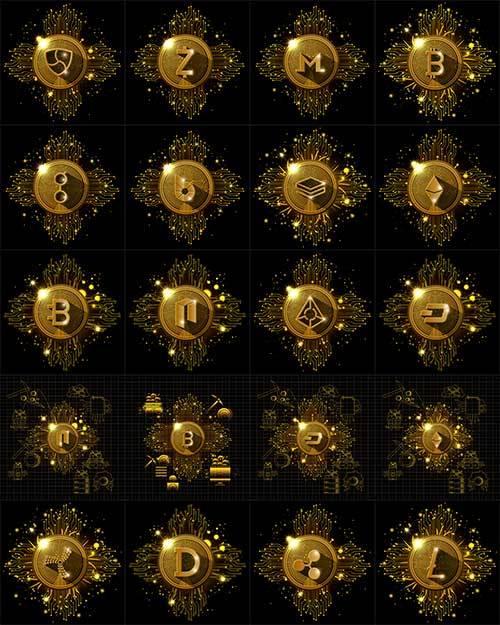 Астрология. Иконки - Векторный клипарт / Astrology. Icons - Vector Graphics