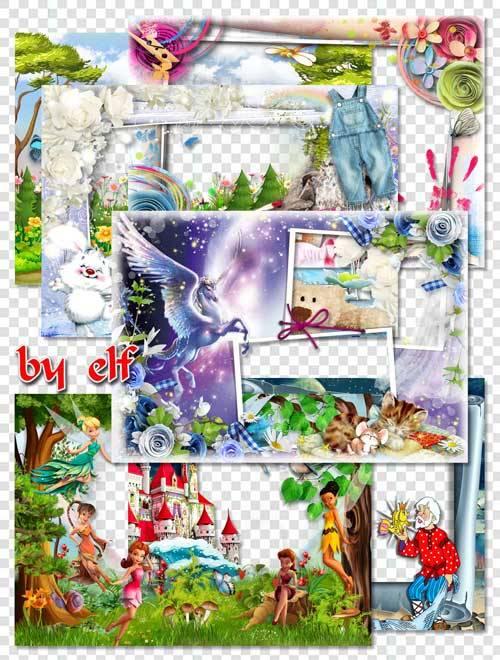 Рамки для детских фото - Унеси меня в сказку волшебную, где печали и горечи ...