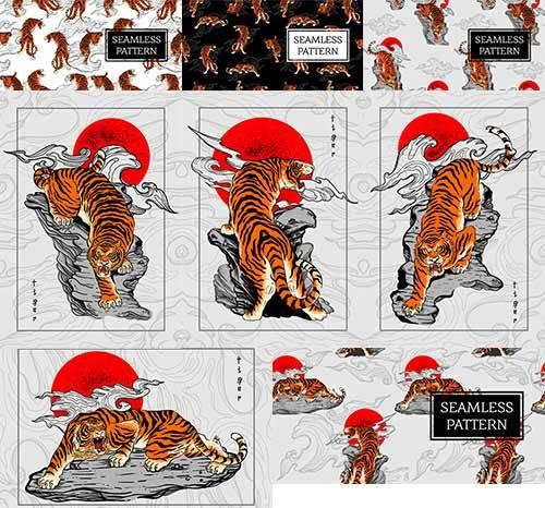 Тигр - Векторный клипарт / Tiger - Vector Graphics