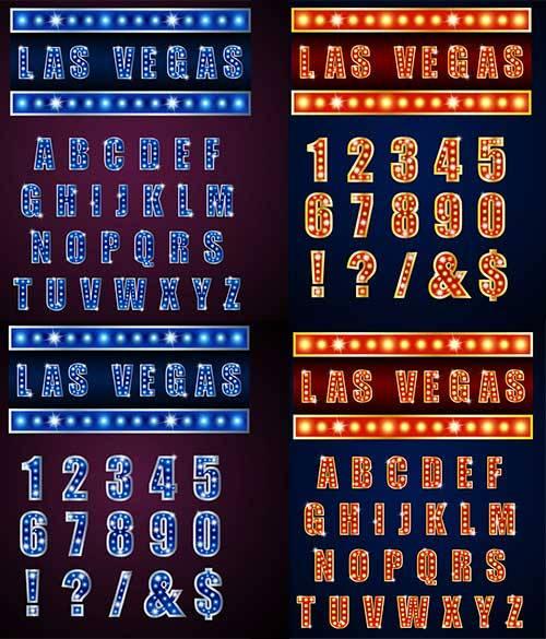 Английский алфавит и цифры в векторе / English alphabet and numbers in vect ...