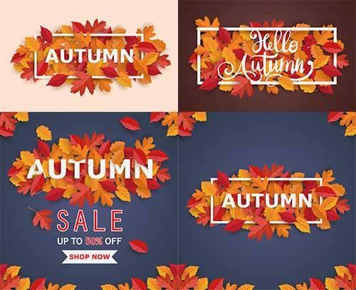 Осенние композиции - 3 - Векторный клипарт / Autumn composition - 3 - Vecto ...
