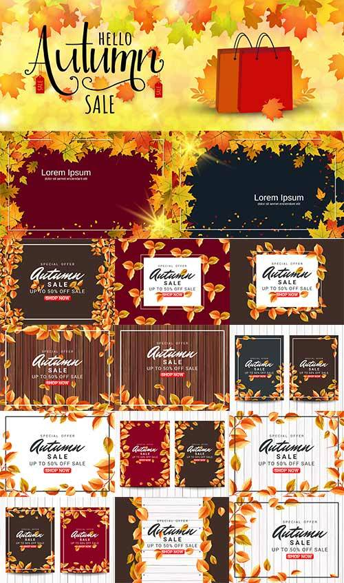 Осенние композиции - 4 - Векторный клипарт / Autumn composition - 4 - Vecto ...