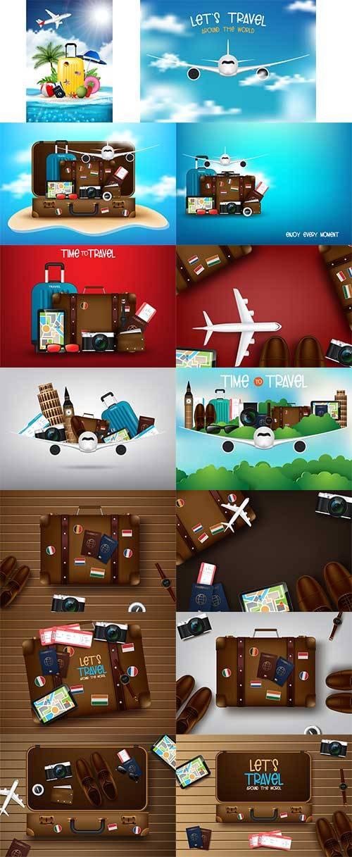 Время путешествий - Векторный клипарт / Travel time - Vector Graphics
