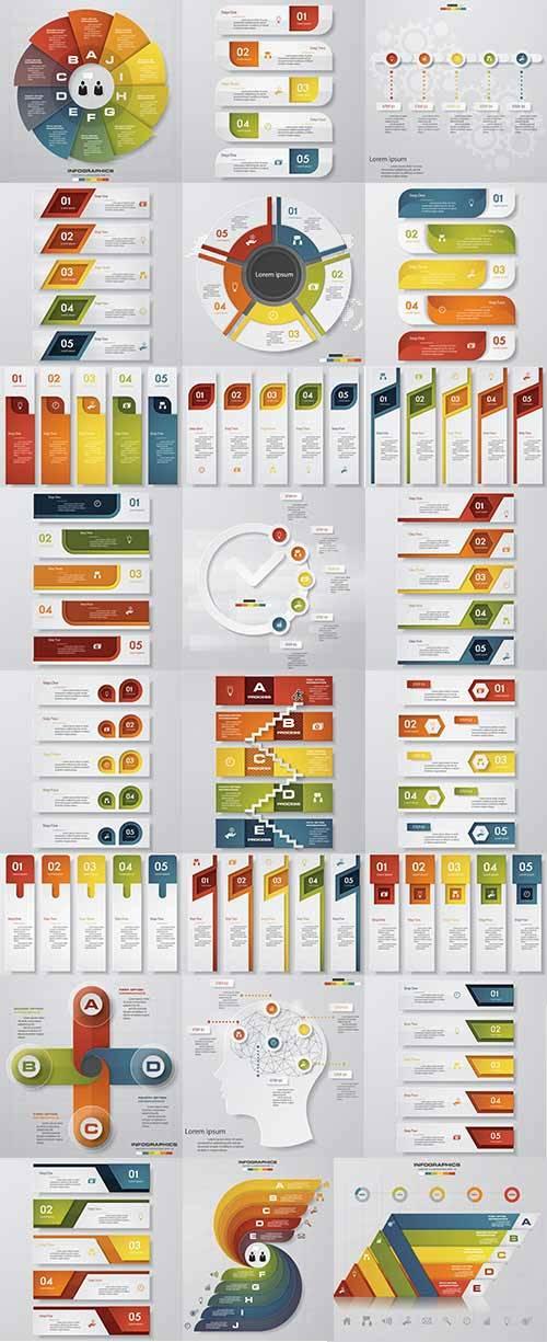 Инфоргафика - Векторный клипарт / Infographics - Vector Graphics