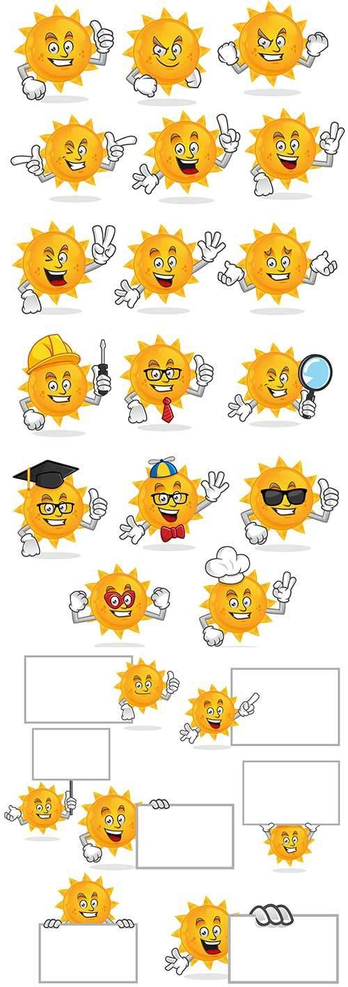 Солнце - Векторный клипарт / Sun - Vector Graphics