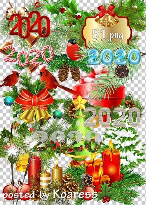 Праздничный клипарт в png - Новогодние украшения